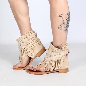 """Sandales bottes \""""Arjuna\"""", Beige"""