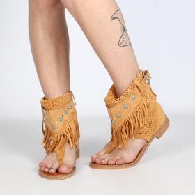 """Sandales bottes \""""Arjuna\"""", Camel"""