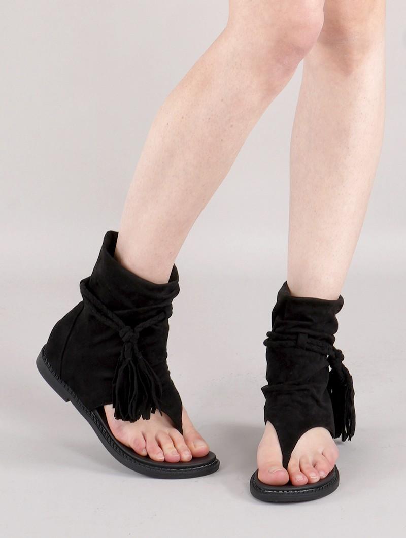 "Sandales bottines \""Cordelia\"", Noir"
