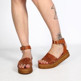 """Sandales espadrilles \""""Esha\"""", Camel"""