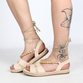 "Sandales espadrilles \""Lanikai\"", Beige"