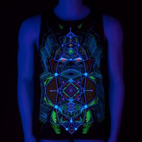 "Sans manches UV \""Multidimensional\"", Noir"