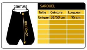 """Sarouel \\\""""anju\\\"""", gris foncé taille unique"""