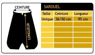 """Sarouel \\\""""anju\\\"""", noir taille unique"""