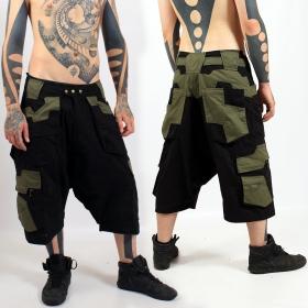"Sarouel 3/4 High Clothing \\\""Corsaire\\\"", Noir kaki"