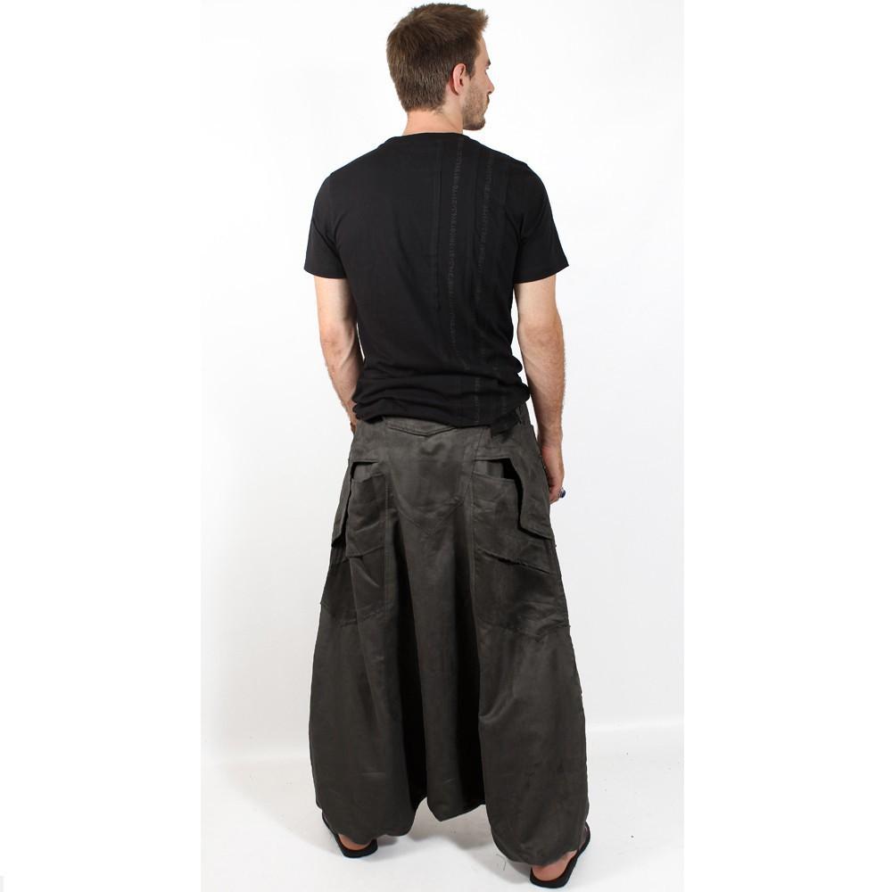 "Sarouel High Clothing \""Sandokhan\"", Marron grisé"