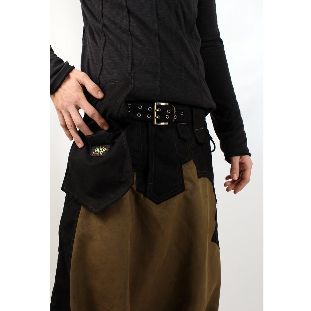 "Sarouel high clothing \\\""sumerian\\\"", kaki-noir"