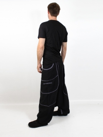 """Sarouel Macha \""""Lines\"""", Noir bandes gris"""