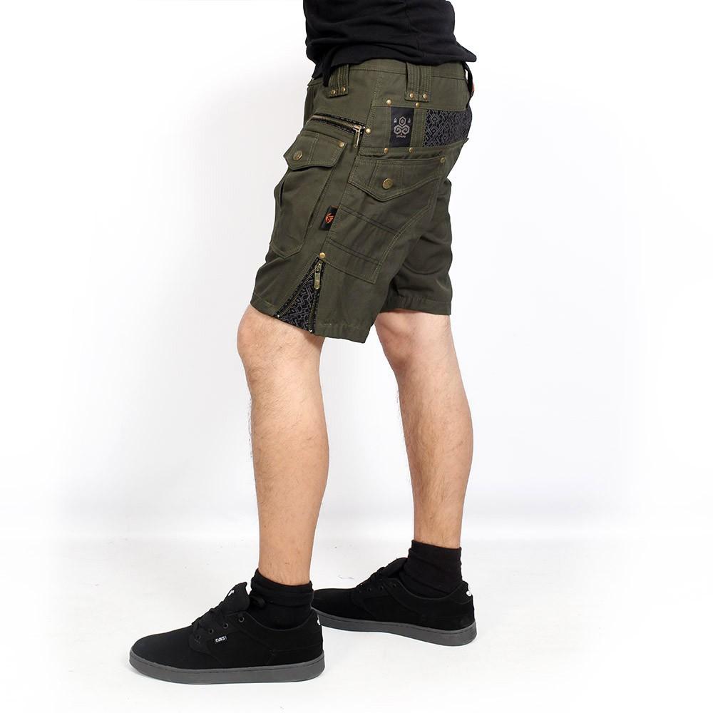 """Short \""""Hexa\"""", Vert kaki foncé"""