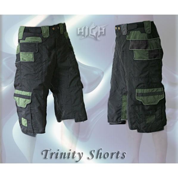 """Short \\\""""trinity\\\"""", kaki-olive"""