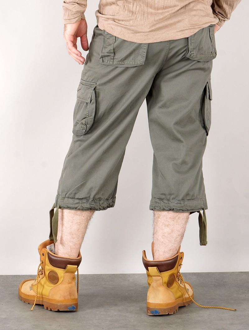 "Short 3/4 cargo treillis \""Urban Legend\"", Vert kaki"