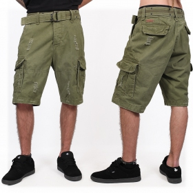 "Short cargo treillis ""Shell Valley\"", Kaki"
