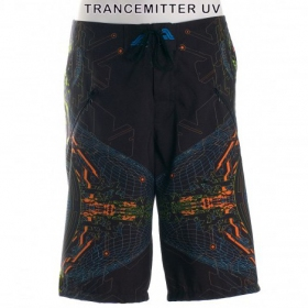 "Short de bain Public Beta \""Trancemitter UV\\\"", Noir"