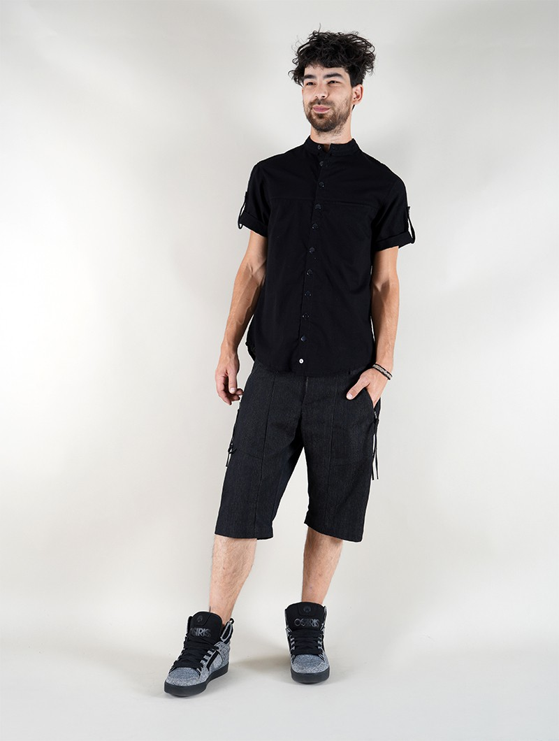 "Short denim ""Vanyar\"", Noir"