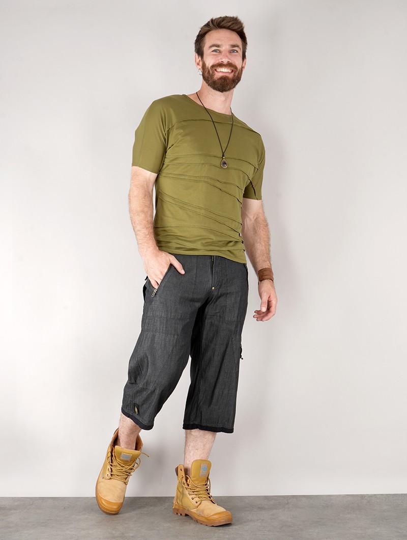 "Short en jean \""Triad\"", Denim noir"