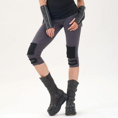 Short leggings, gris charbon