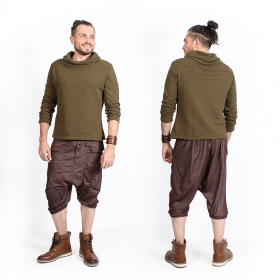 "Short sarouel ""Ghural\"", Marron"