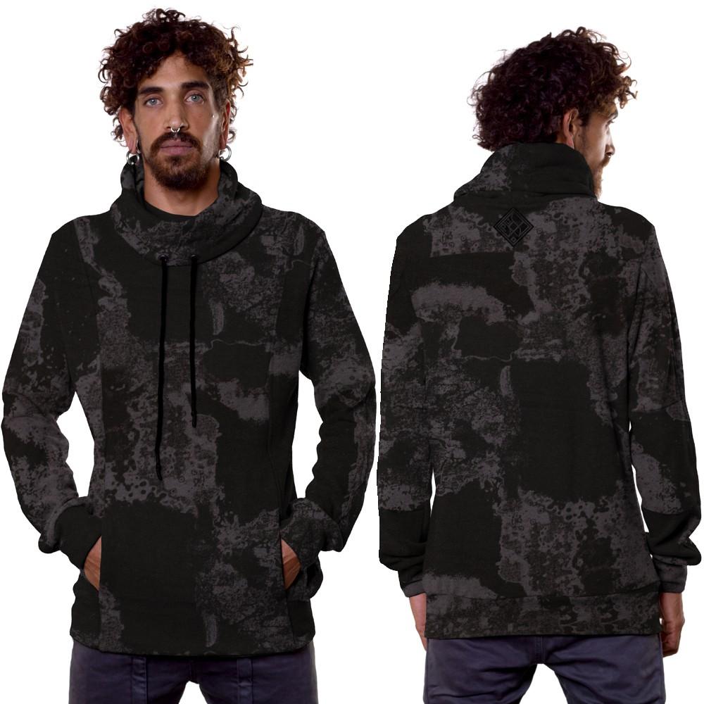 """Sweat à capuche \""""Dusty\"""", Camouflage noir"""