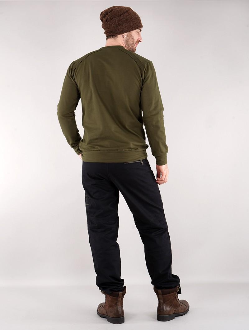 "Sweat-shirt \""Felagund\"", Vert kaki"