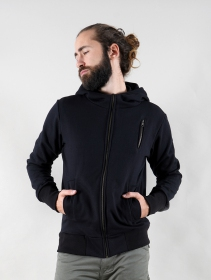 "Sweat zippé ""Aegnor Circuit\"", Noir"