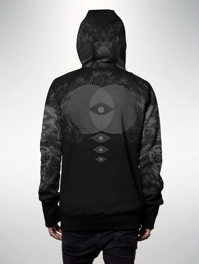 "Sweat zippé ""Elemental\"", Noir"