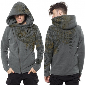 "Sweat zippé ""Witcher\"", Gris chiné"