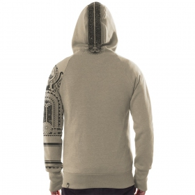 "Sweat zippé PlazmaLab \""Mauri\\\"", Beige"