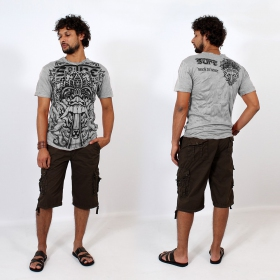 T-shirt \\\'\\\'Bali dragon\\\'\\\', Gris clair