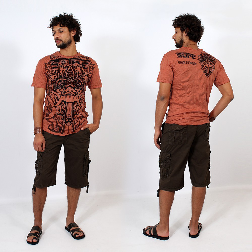 T-shirt \\\'\\\'Bali dragon\\\'\\\', Orange