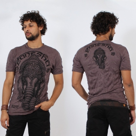 T-shirt \\\'\\\'Ganesh face\\\'\\\', Violet