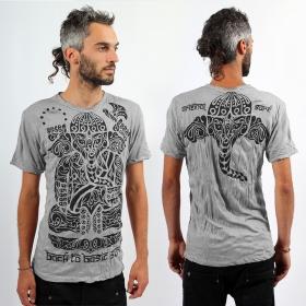 T-shirt \\\'\\\'Ganesh Tribal\\\'\\\', Gris clair