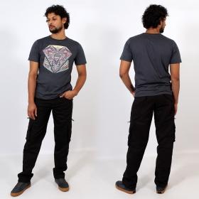T-shirt \\\'\\\'Geometric\\\'\\\', Gris