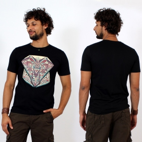 T-shirt \\\'\\\'Geometric\\\'\\\', Noir