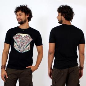 T-shirt \\\'\\\'Geometric\\\'\\\', Noir