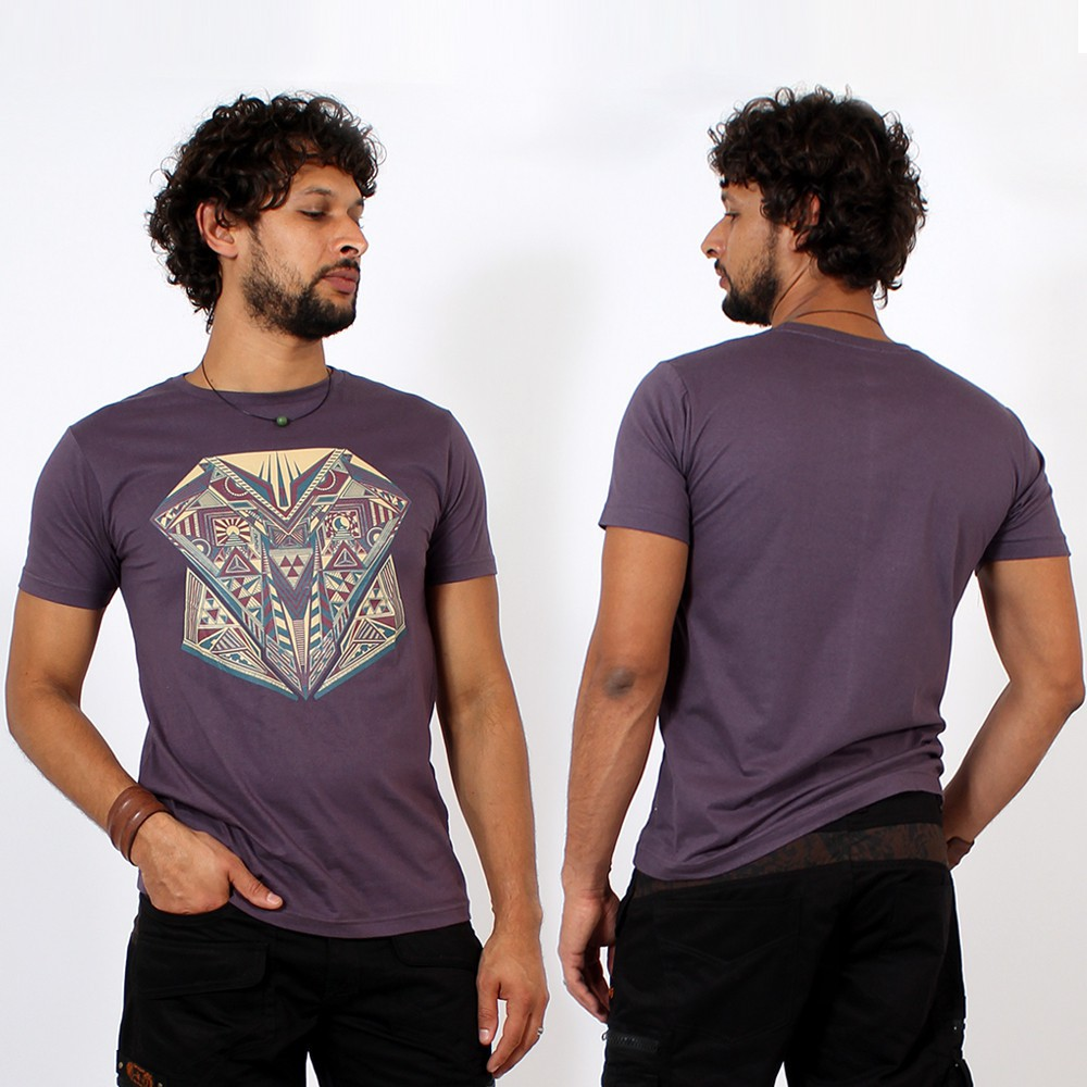 T-shirt \\\'\\\'Geometric\\\'\\\', Violet