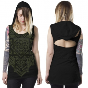 T-shirt \\\'\\\'Lakshmi\\\'\\\', Noir
