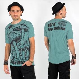 T-shirt \\\'\\\'Magic mushroom\\\'\\\', Bleu clair