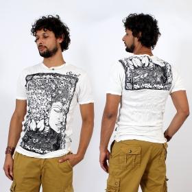 T-shirt \\\'\\\'Sanskrit Buddha\\\'\\\', Blanc