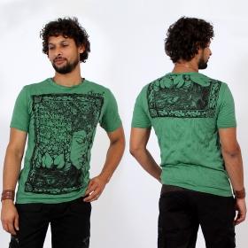 T-shirt \\\'\\\'Sanskrit Buddha\\\'\\\', Vert menthe