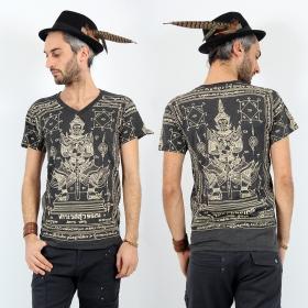 T-shirt \\\'\\\'Vaisravana\\\'\\\', Gris foncé