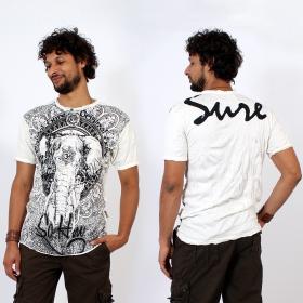 T-shirt \\\'\\\'Wild Elephant\\\'\\\', Blanc