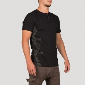 """T-shirt \""""Abu\"""", Noir"""