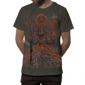 "T-shirt \""Abualita\"", Beige foncé"
