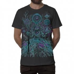 "T-shirt \""Abualita\"", Gris foncé"