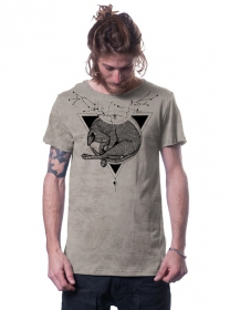 """T-shirt \""""Abyssian\"""", Beige chiné"""