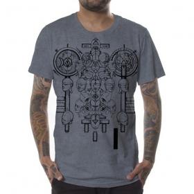 "T-shirt \""Alchemist\"", Gris vieilli"