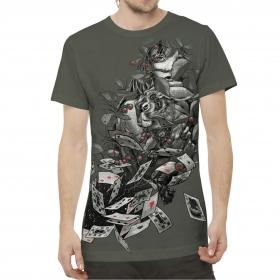 """T-shirt \""""Alice in-J\"""", Kaki"""