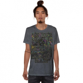 """T-shirt \""""Ambiride\"""", Gris vieilli"""