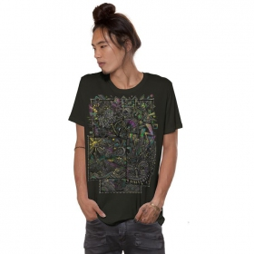 "T-shirt \""Ambiride\"", Kaki foncé"