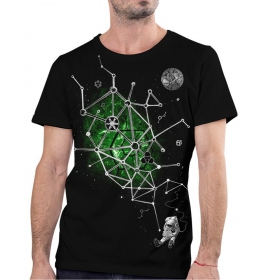 "T-shirt ""Astral Reading\"", Noir"